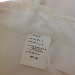 Vintage Unbranded Tops - Vintage polyester and lace blouse 34 white